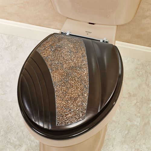 Fine Grandeur Mosaic Bronze Elongated Toilet Seat In 2019 Bath Pabps2019 Chair Design Images Pabps2019Com