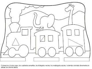 Fichas Infantiles: Ficha de las formas geométricas para infantil