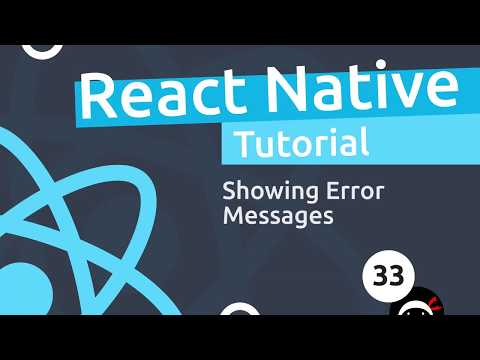 React Native Tutorial 33 Showing Form Errors YouTube