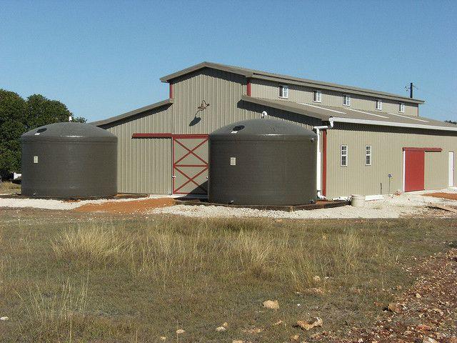 Two 10 000 Gallon Rainwater Harvesting Cisterns Rainwater Harvesting Water From Air Rainwater