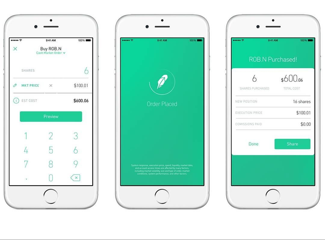 Really into this somewhat minimal design for robinhood