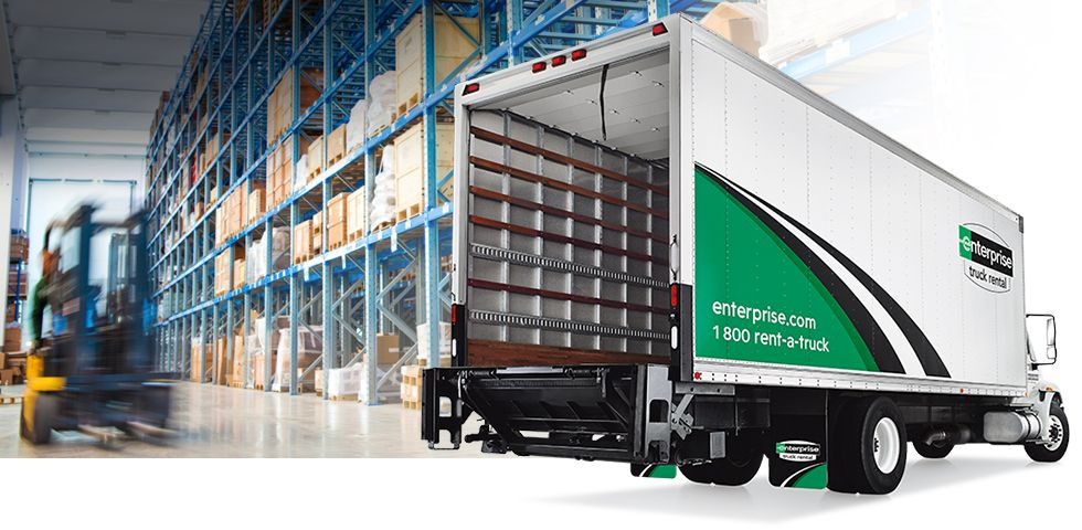26 Foot Box Truck With Lift Gate Business Use Enterprise Truck Rental Trucks 26 Foot Box Truck Rental