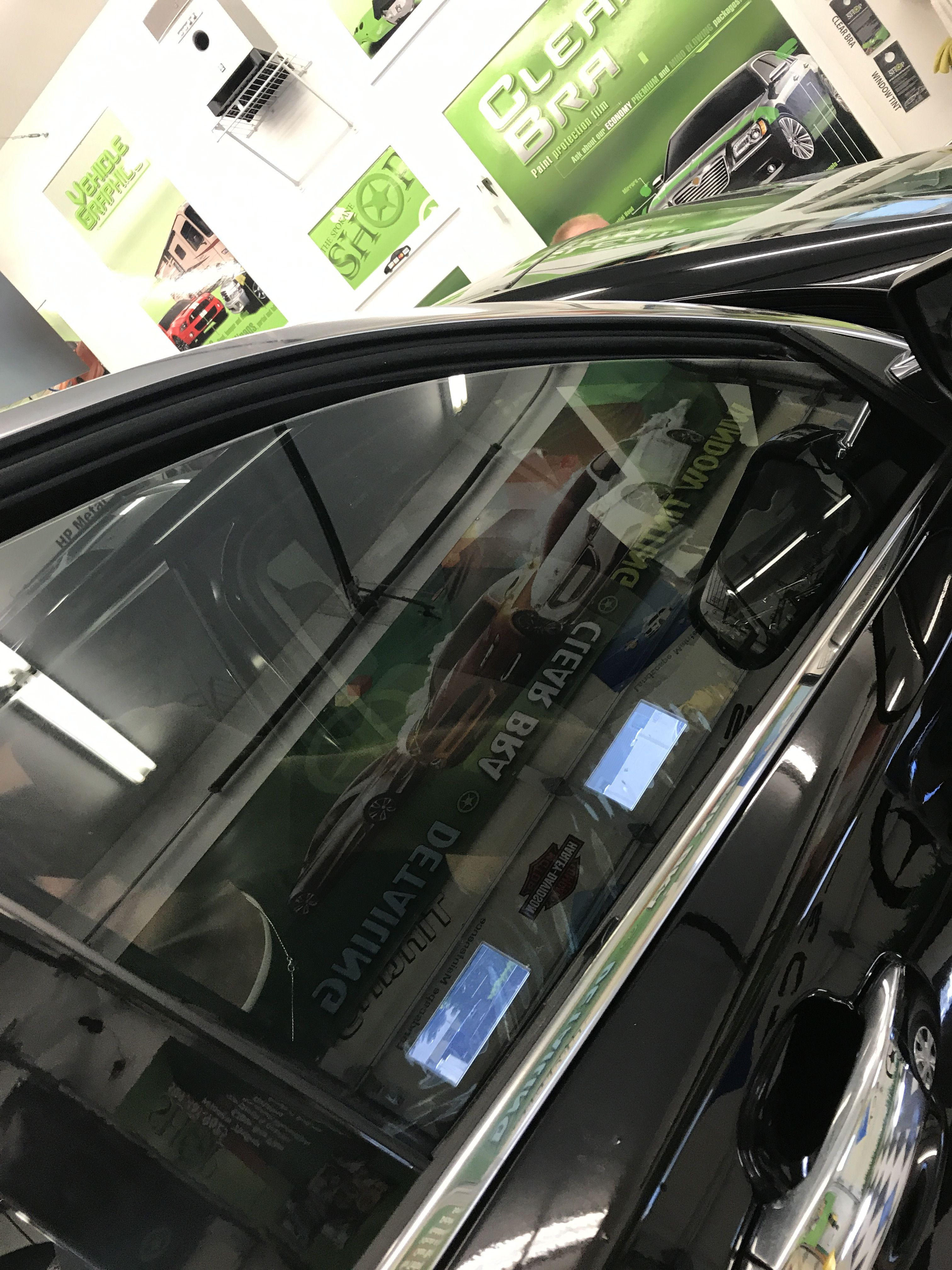 Here We Just Did A Carbon Film Match Up Just Matching The Two Front Windows To The Windows In Th Commercial Window Tinting Tinted Windows Tinted House Windows