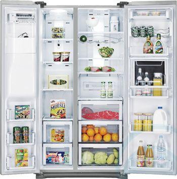 676l Samsung Side By Side Fridge Srs676gdhls Appliances Online American Style Fridge Freezer Fridge Freezers Side By Side Refrigerator