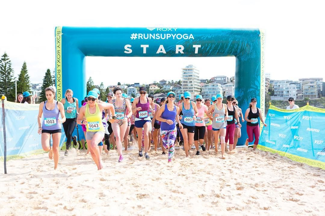 Who run the World?! Olympic Champion @torahbright leads the charge at #RUNSUPYOGA Manly Beach