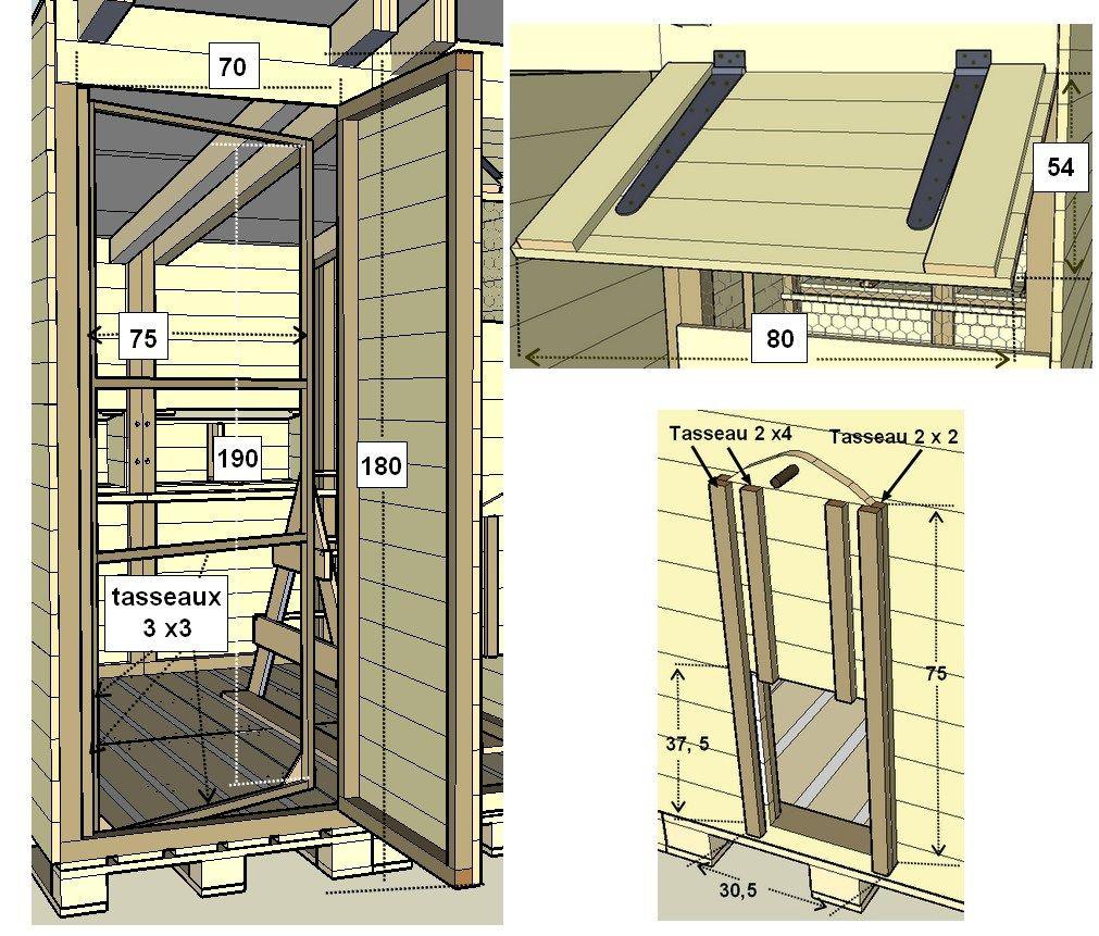 Poulailler En Bois De Palette - Détail de la porte en bois de palettes du poulailler poules Pinterest Construction