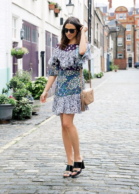 ff224b8c60d2 Check out this  ASOS Tiered Dress in Mixed Floral Print - Multi  sold by Anneli  Bush via  SocialSuperStr  BeSoSuper