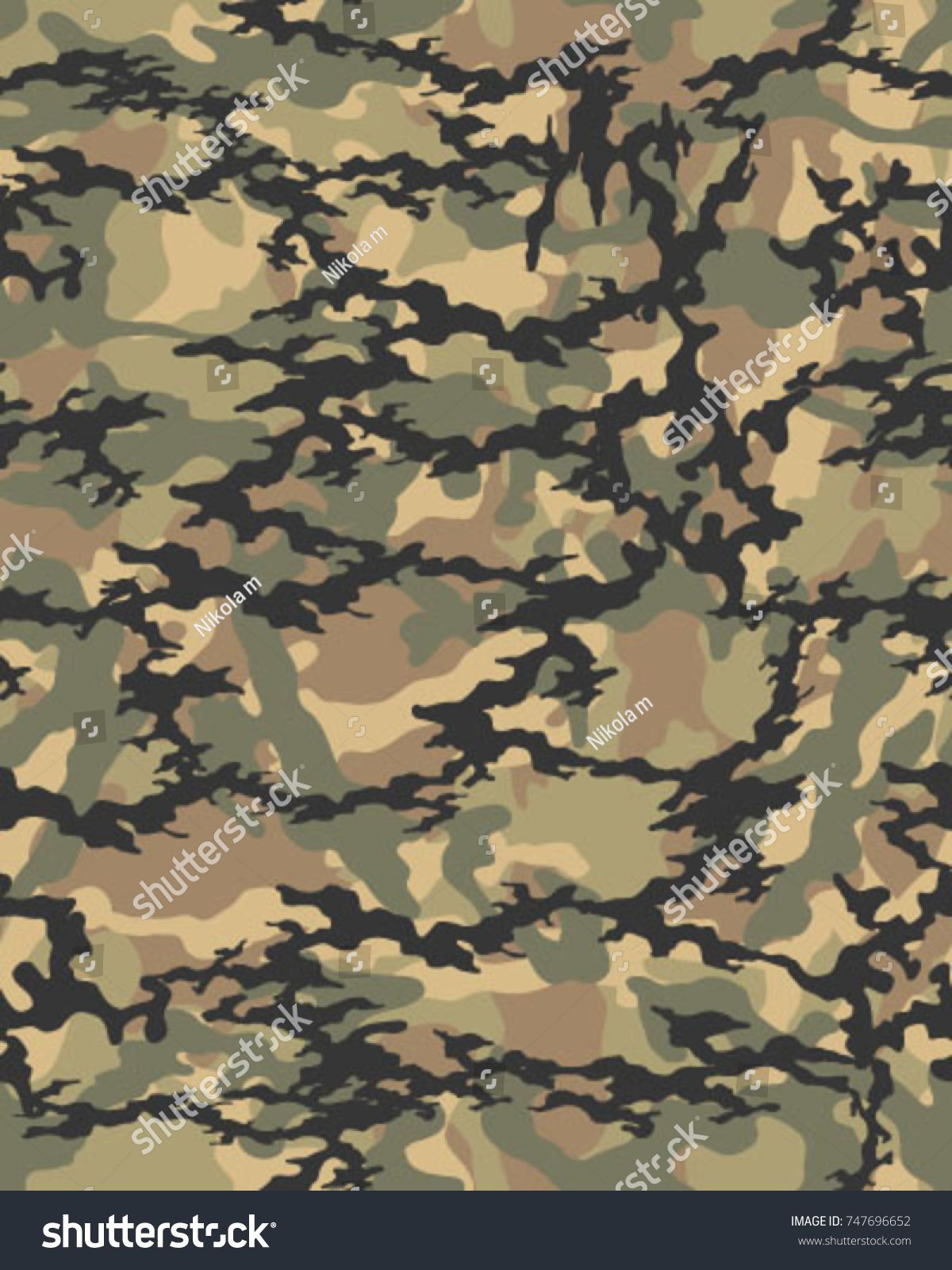 Abstract Camouflage Pattern Seamless Vector Wallpaper Colorful