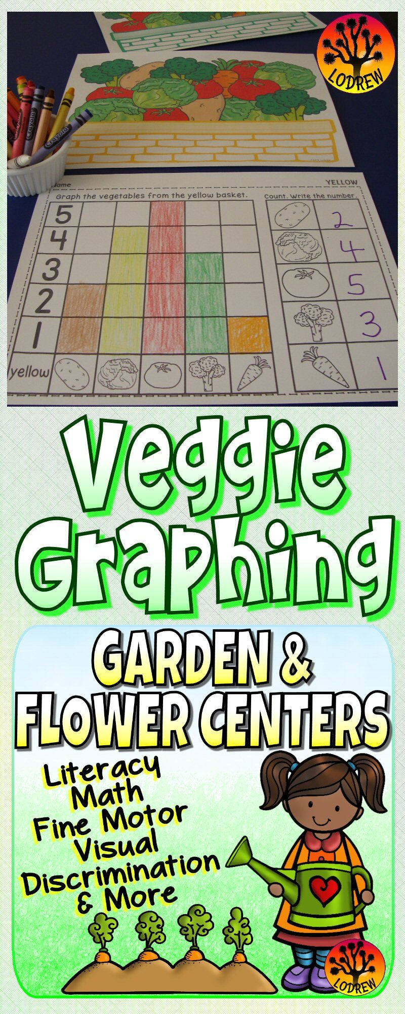 200 pages of garden and flower themed centers. Activities include ...