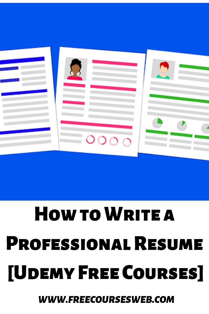 How To Write A Professional Resume Udemy Free Courses This