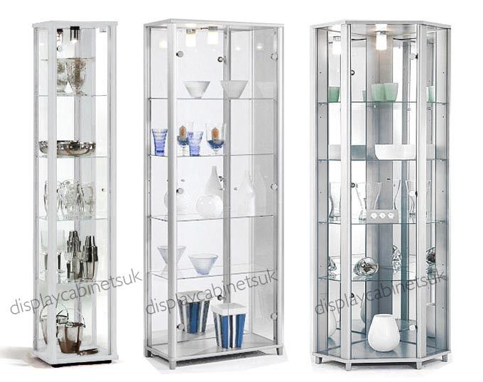 Glass · White Glass Display Cabinet ...