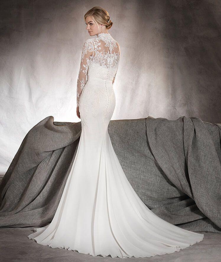 Ariella - Vestido de novia con escote corazón y encaje, en gasa y tul