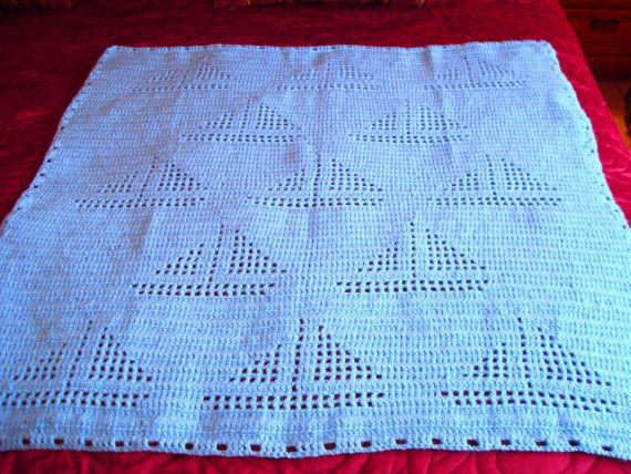 Crochet Baby Boy Blanket Sailboat Pattern Crochet Baby Blanket