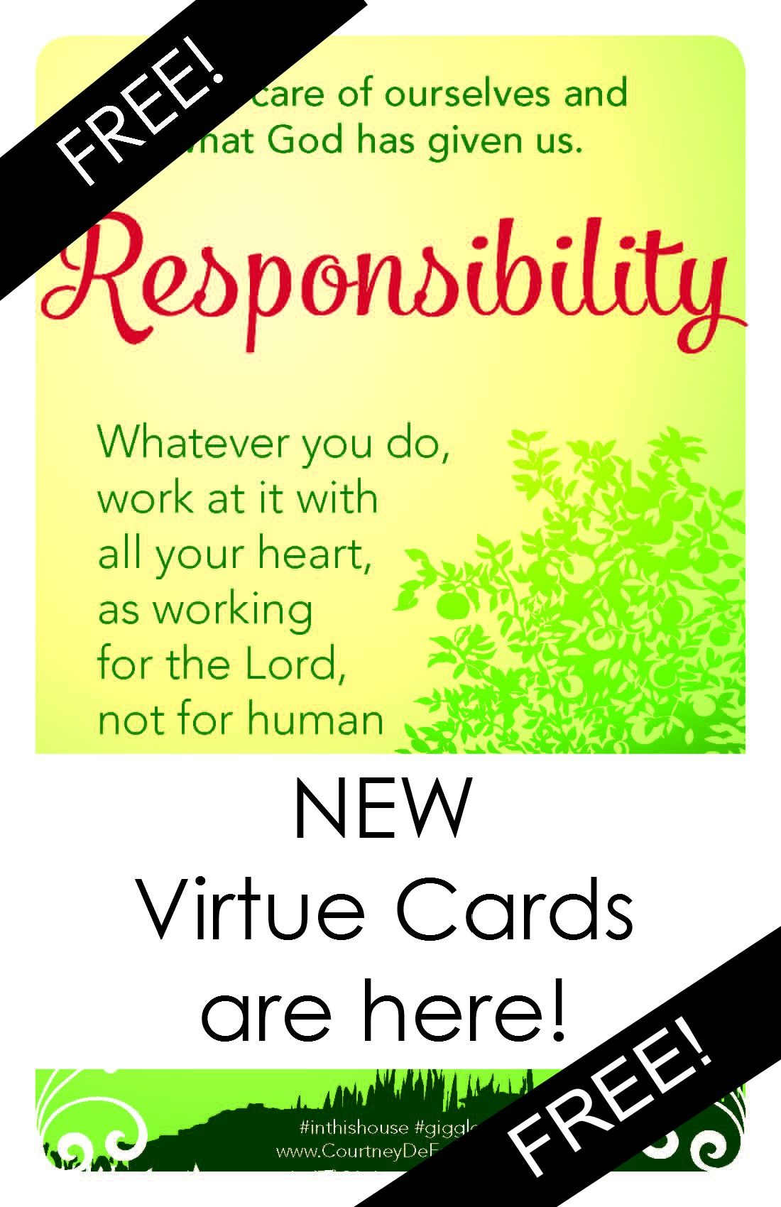 12 Virtues new virtue cards -creator of abc scripture cards. this