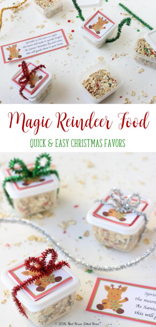 Magic Reindeer Food Favors - Full Tutorial and Printable Poem #reindeerfoodrecipe