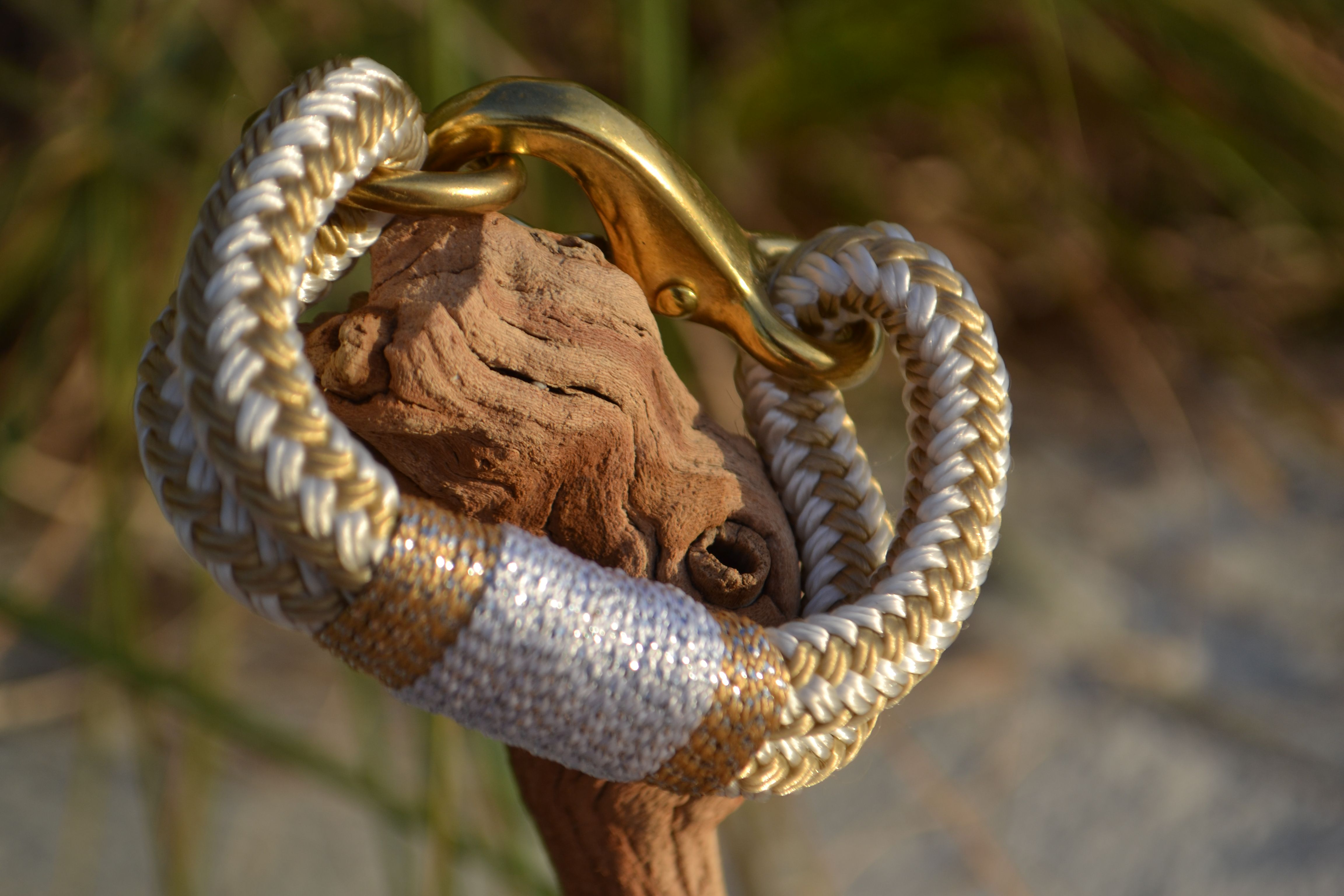 Silver and gold rope bracelet by knotical oticalspot