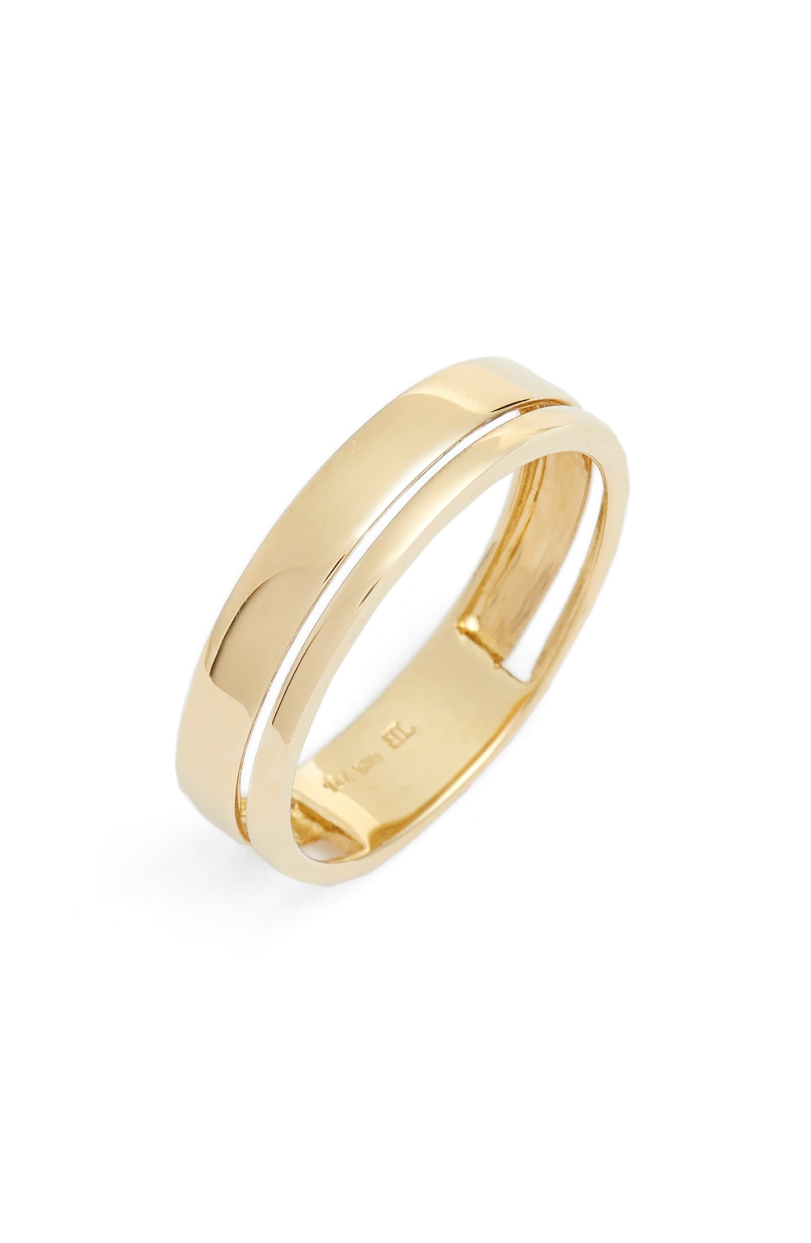 a2b76fc32b7d3 Bony Levy Split Band Ring in 2019 | Products | Rings, Band rings ...
