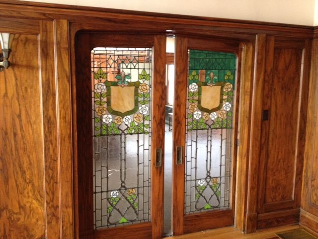 Stained Glass Doors Before And After1 Jpg 640 480 Pixels