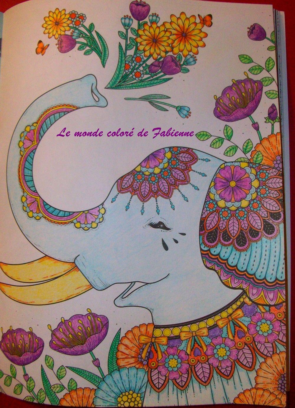 """coloriage issu du magazine """"coloriage bien être n°10. Cdc polychromos."""