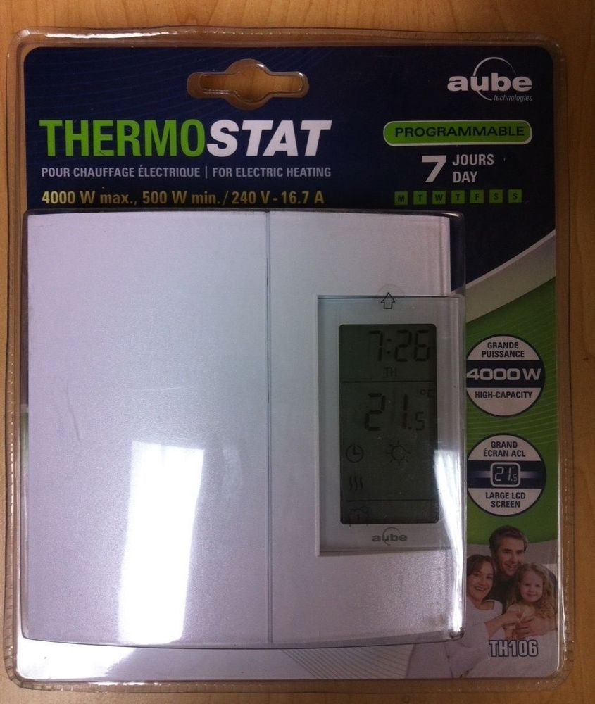 Honeywell Aube TH106 PROGRAMMABLE THERMOSTAT FOR ELECTRIC HEATING 7 DAYS 4000W