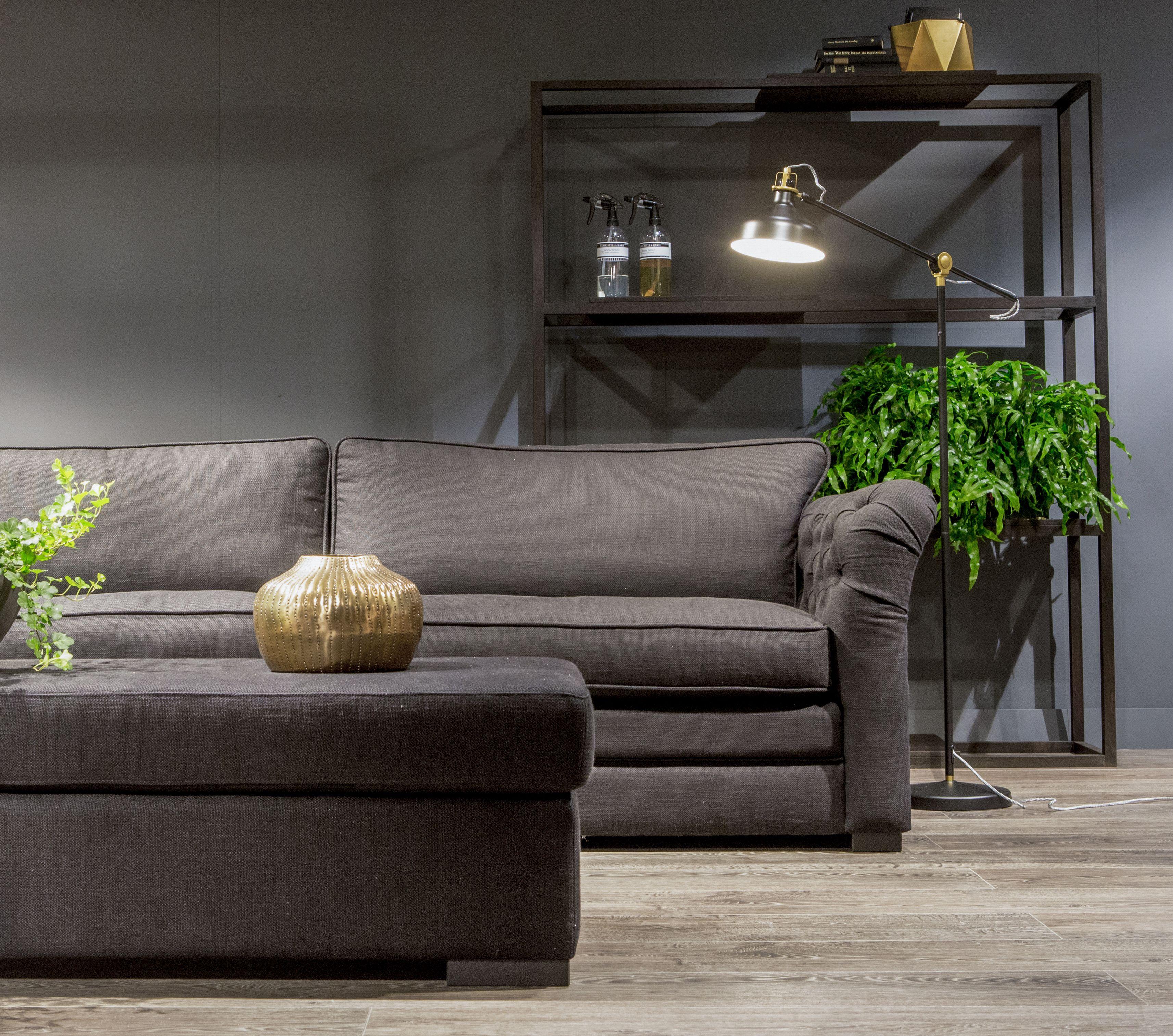 Sofa, bank, roomdivider, poef, black, zwart, interieur, interior ...