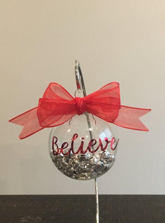 Jingle Bell Believe Ornament by LivieBugCrafts on Etsy   Jingle bells, Ornaments, Etsy