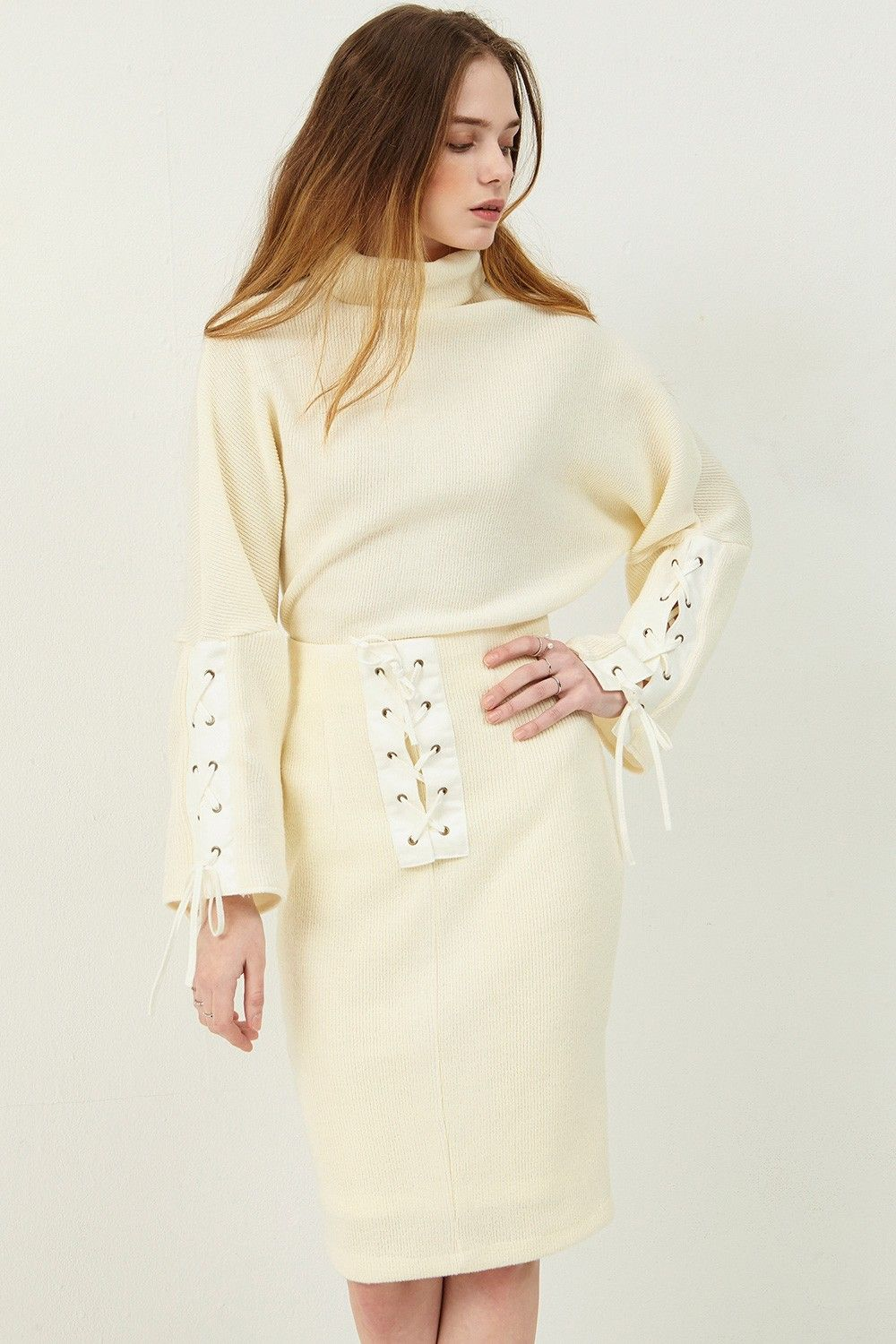 Dolly eyelet knit >>Discover the latest fashion trends online at ...