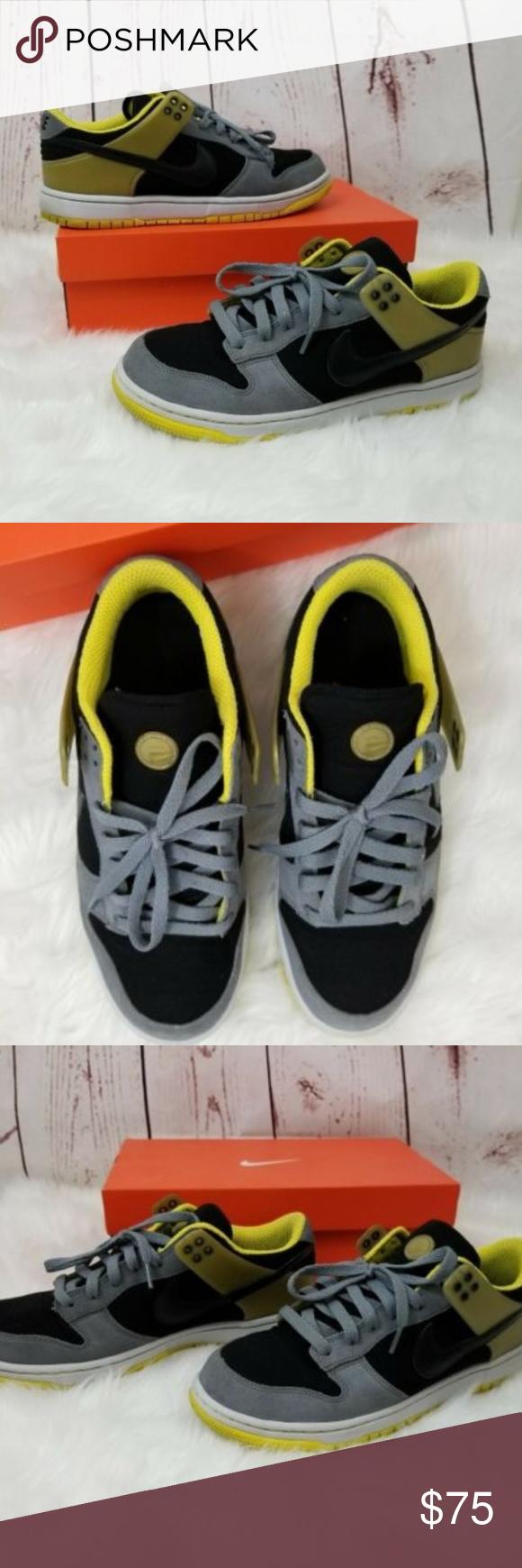 NIKE Air Zoom Dunkesto Men's Size 10 Black Yellow Air Zoom Dunkesto Shoes  in Black and