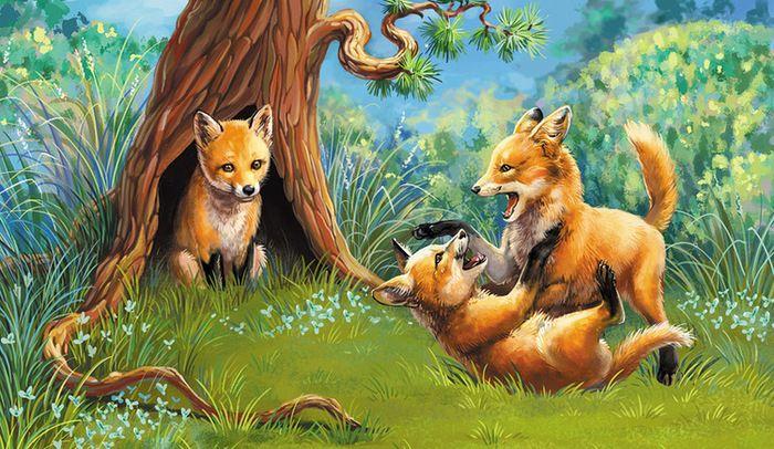 остается рисунок лисы с лисятами в норе имеет огромное значение