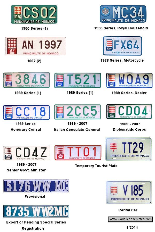 images of europe registration plates | License Plates of Monaco ...