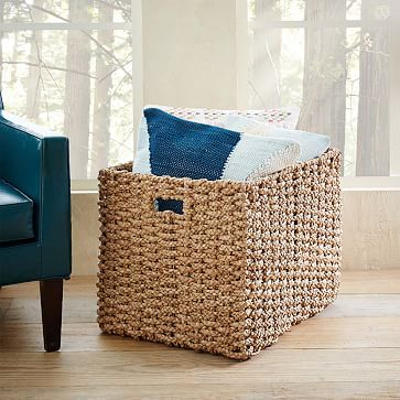 Exceptional Abaca Oversized Storage Basket #westelm. 18H. 18x 22