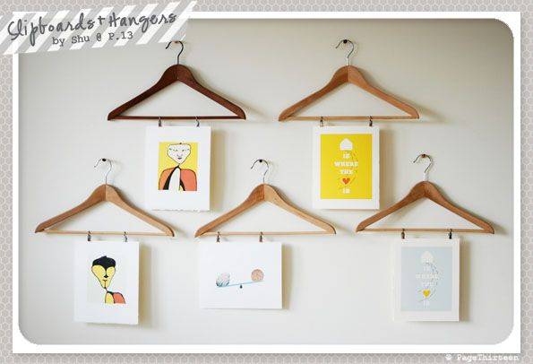 fab idea for hanging kid's art
