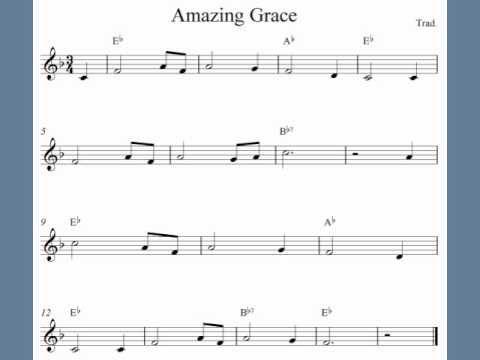Amazing Grace - Trumpet sheet music | fun for kids in 2019