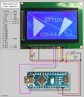 64 X 128 Arduino Lcd Wiring Diagram - Wiring Library Diagram A5
