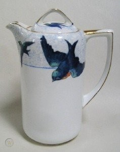 Hand Painted Nippon Bluebird Tea or Coffee Server | #77794463 #coffeeserver