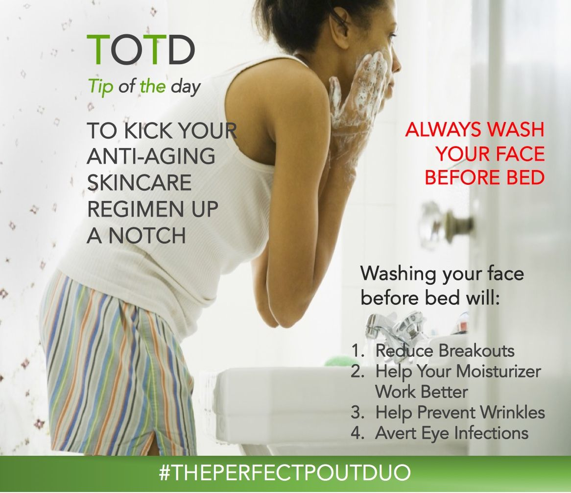 Washing Your Face Before Bed Will 1 Reduce Breakouts 2