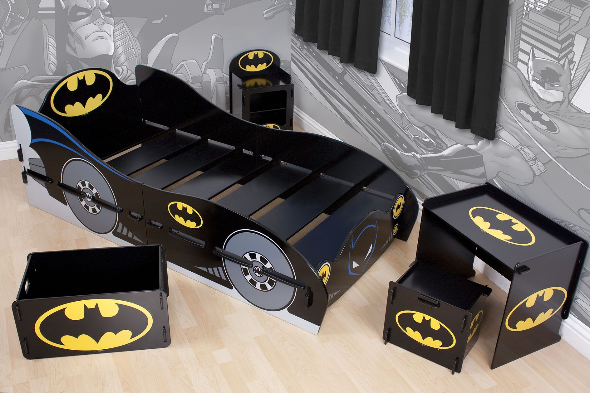batman childrens table and chairs universal chair covers for cheap kidsaw furniture range bed rrp 250
