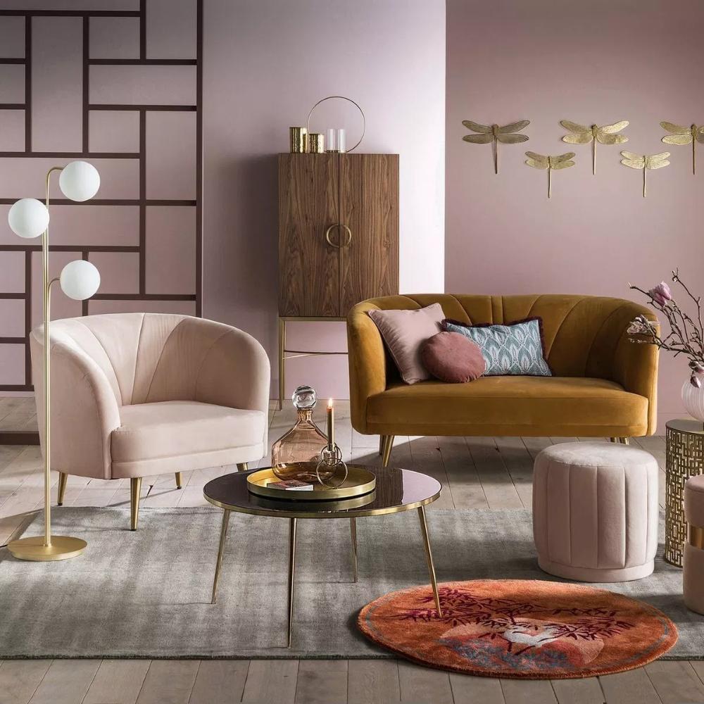 Deco Salon Rose Poudré où trouver un canapé coquillage | modern art deco, decor