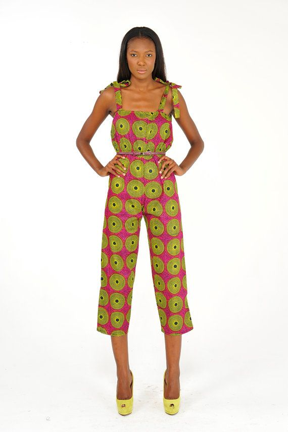 African Print Jumpsuit On Etsy ~African Prints African ...