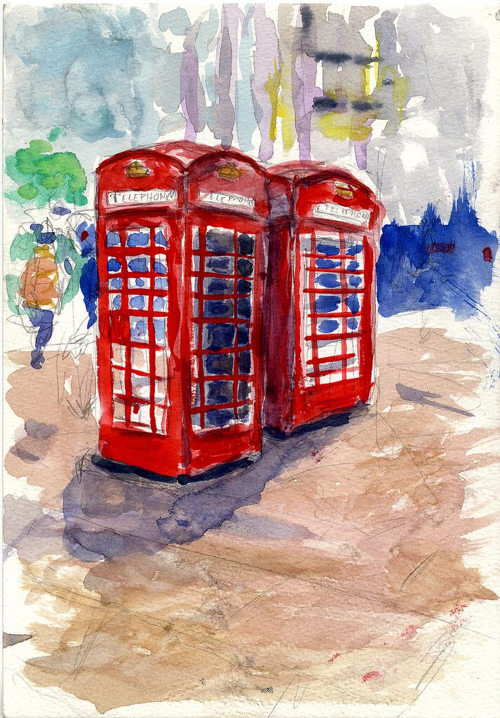 Phone booth painting