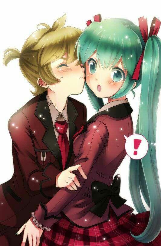 Kiss! Len x Miku! | Miku Len  Kiss! Len x Mik...