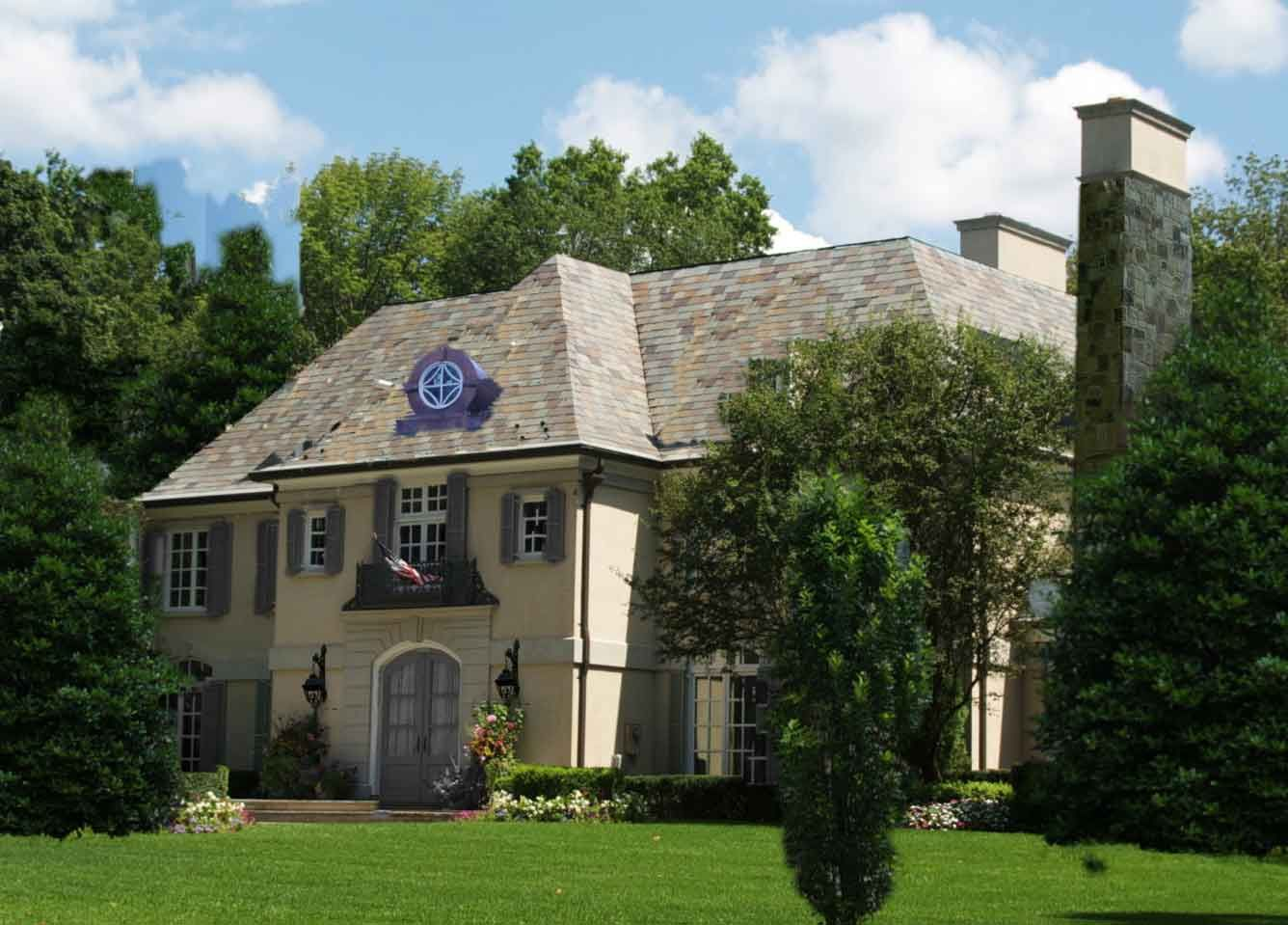 French chateau homes photos french eclectic for Modern french country house plans
