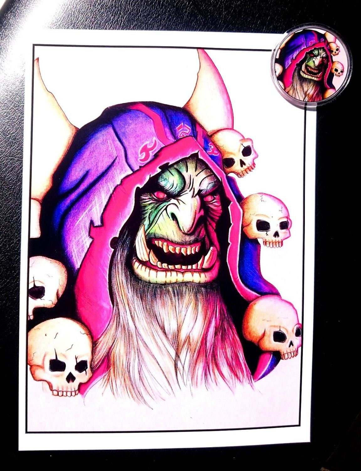 Gul'dan da world of Warcraft, stampa e spilla. by FantasyUniverseShop on Etsy