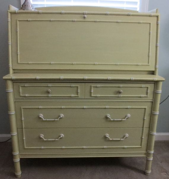 Faux Bamboo Thomasville Secretary Desk ONE OF A By Caesarshouse, $675.00
