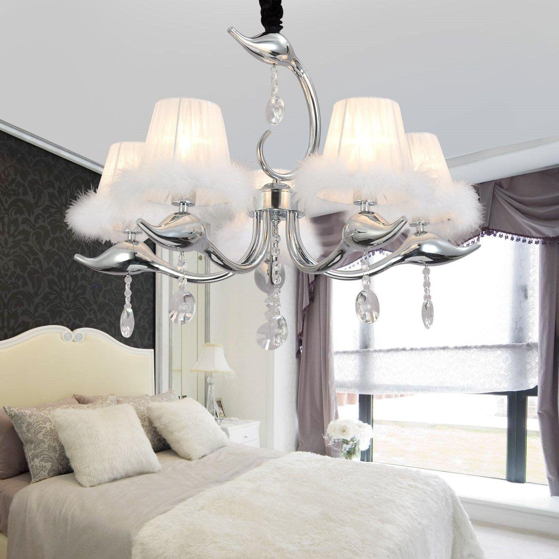 Simple and elegant crystal lamps 5 simple European crystal chandeliers  bedroom living room crystal chandelier crystal. Simple and elegant crystal lamps 5 simple European crystal