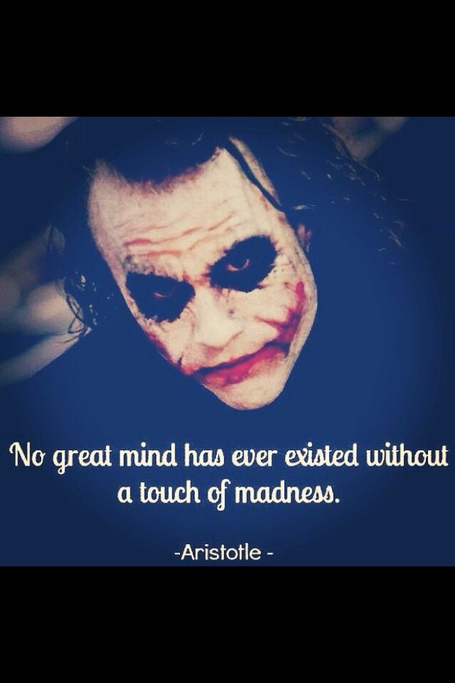Theres A Method To My Madness The Joker Pinterest Zitate