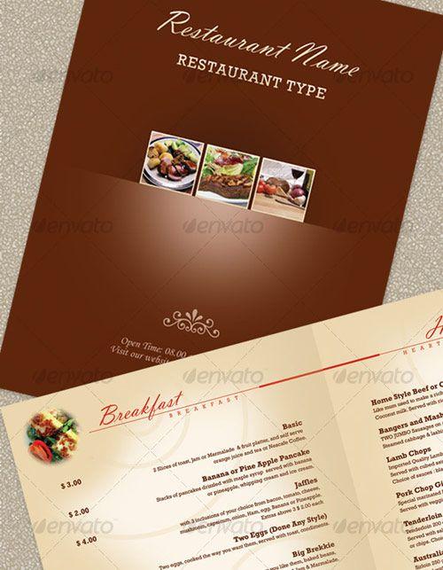 25 High Quality Restaurant Menu Design Templates \u2013 Web  Graphic