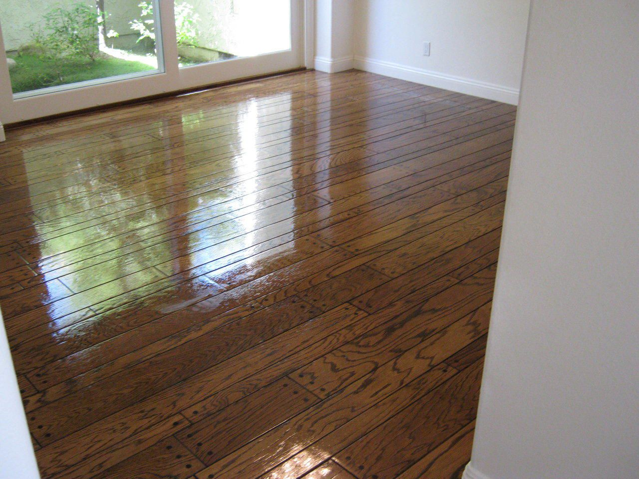 Faux Hardwood Concrete Flooring Cabinets And Epoxy