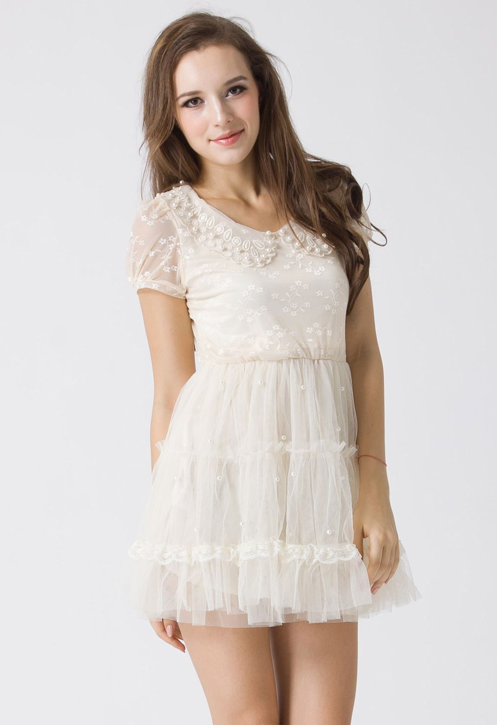 Pearly tulle dress style pinterest tulle dress unique fashion