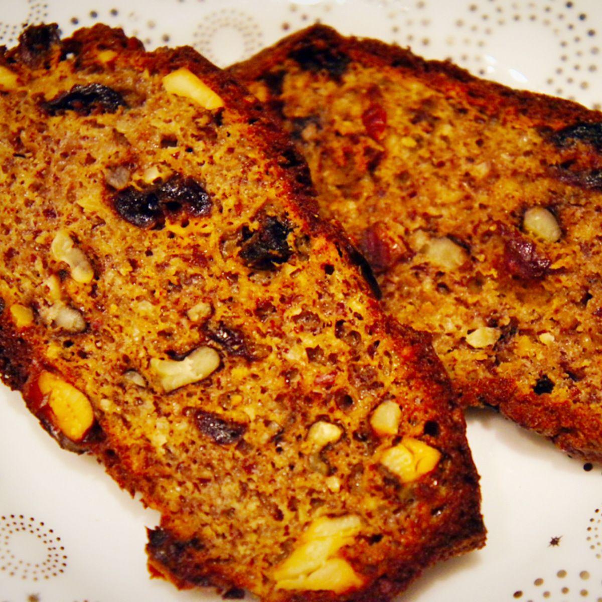 The Baconista- Cranberry Walnut Bread!! Yummy in my TUMMY ...